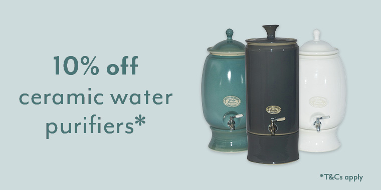 10% off cermaic water purifiers*