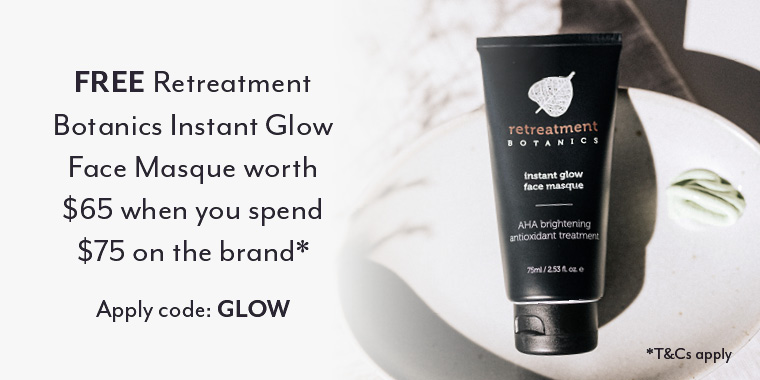 Free Retreatment Botanics Instant Glow with $75 spend*