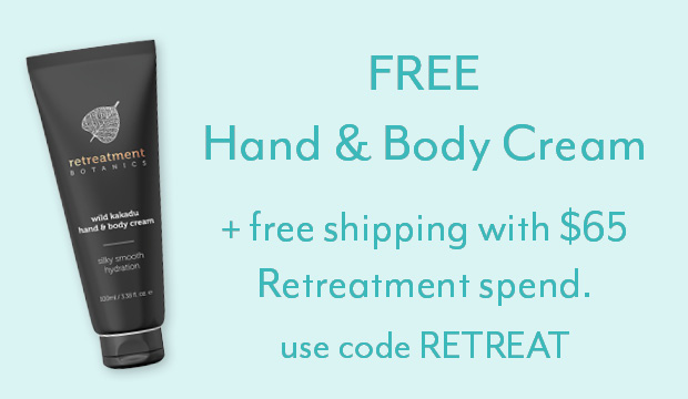 Free hand and body cream with $65 Retreatment spend*