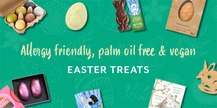 Allergy friendly, palm oil free and vegan Easter treats