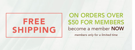Free shipping on orders over $50 for members