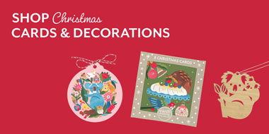 Shop Christmas cards and decorations