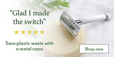 Save plastic waste with a metal razor