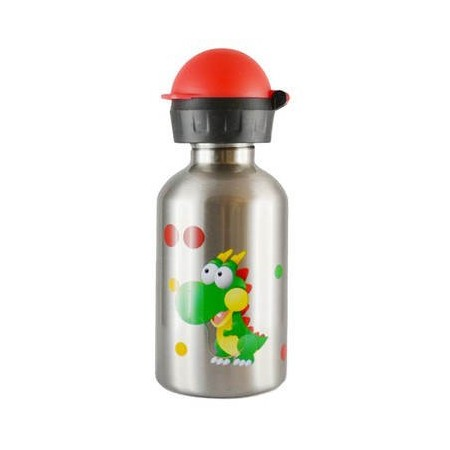 Cheeki 350ml kids Stainless Steel Water Bottle - dinosaur