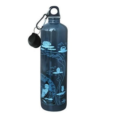 Cheeki 1 litre Stainless Steel Water Bottle - buddha