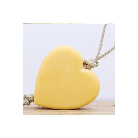 Dindi heart soap on a rope