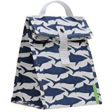 Lunchskins lunch tote - navy sharks