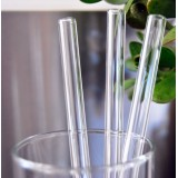 Glass straw 12mm smoothie straw - clear Australian made