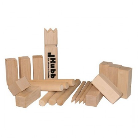 Kubb wooden throwing game