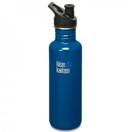 Klean Kanteen classic 27oz 800ml Stainless Steel Water Bottle - blue planet