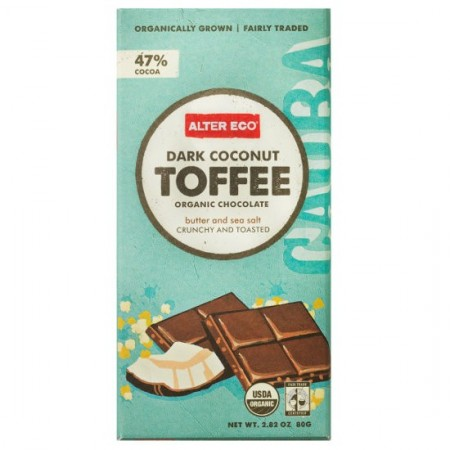 Alter Eco organic chocolate - coconut toffee 80g