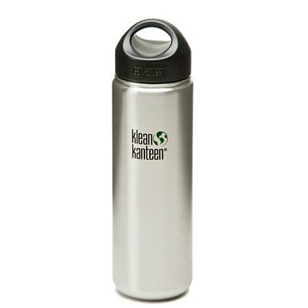 Klean kanteen classic 27oz 800ml wide mouth bottle - brushed silver