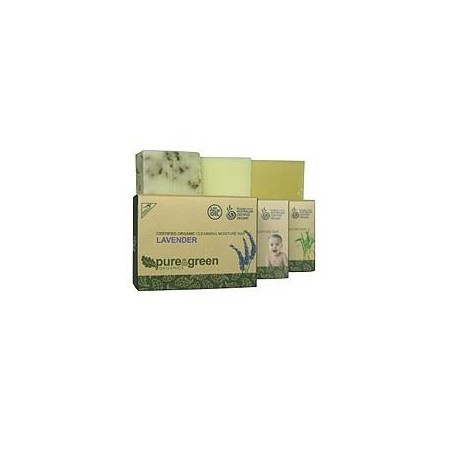 Pure & Green Organics cleansing moisture bar - unscented
