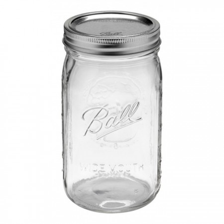 Ball mason jar Quart 950ml wide mouth