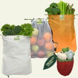 ChicoBag reusable produce bag kit - set of 3 apple