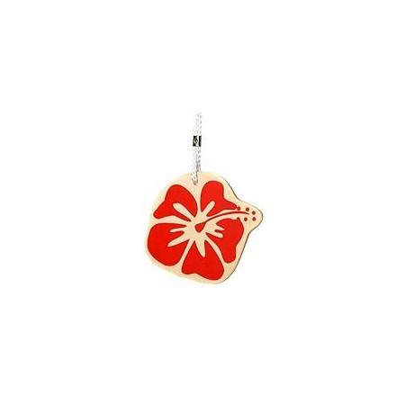Eco bag tag - hibiscus