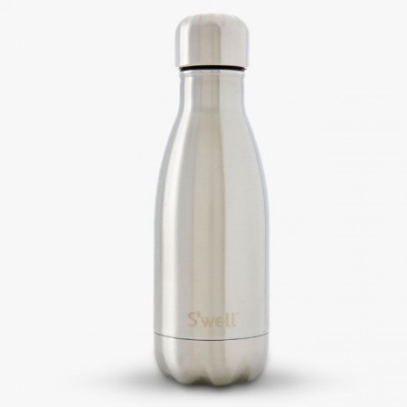S'Well insulated stainless steel Water Bottle 260ml - classic silver