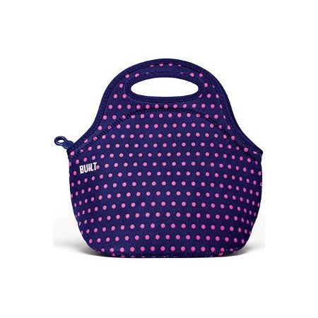 BUILT NY gourmet getaway lunch tote - mini dot navy
