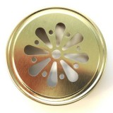 Ball mason lid - daisy cut gold (1)
