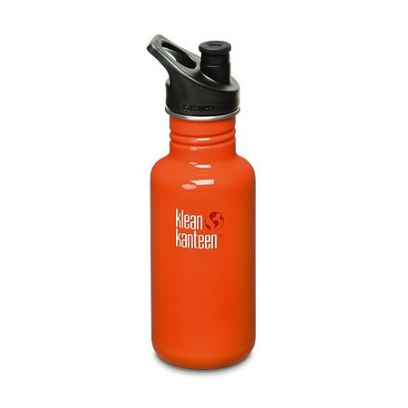 Klean Kanteen classic 18oz 532ml Stainless Steel Water Bottle - flame orange