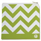 Lunchskins medium zipper bag - green chevron