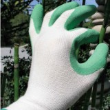 Bamboo fit gardening gloves - green large