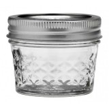 Ball mason jam jar 120ml regular mouth quilted