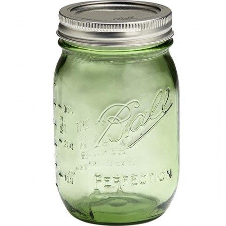 Ball mason jar Pint 440ml regular mouth limited edition green