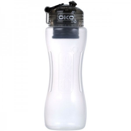 OKO water filter water bottle 1L - charcoal