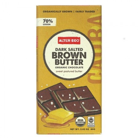 Alter Eco organic chocolate - dark salted brown butter 80g