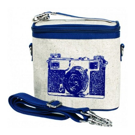 Insulated large lunch bag - navy camera by SoYoung