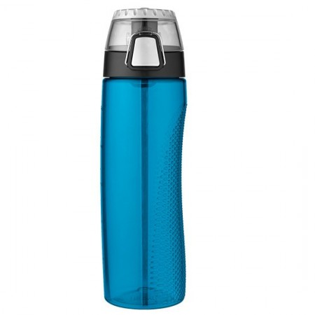 Thermos hydration bottle rotating meter 710ml - teal