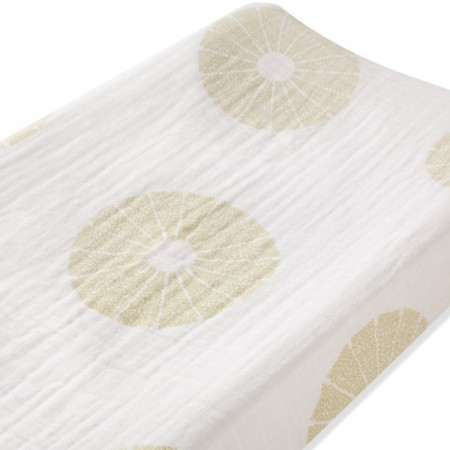 aden + anais organic muslin changing pad cover - oasis