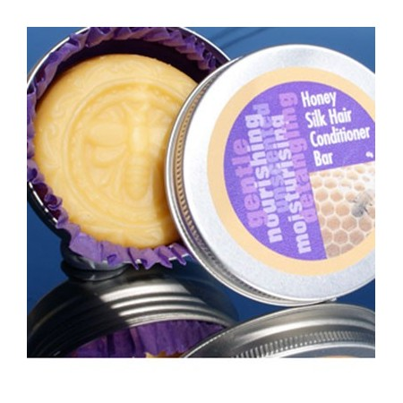 Beauty & the Bees honey silk conditioner bar 40g tin