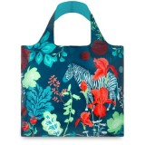 LOQI shopping bag - forest zebra