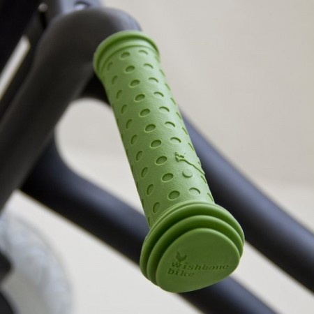 Wishbone handle bar grips - green