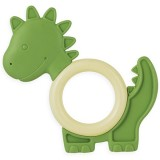 Natural eco teether - green dinosaur