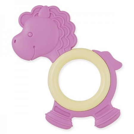 Natural eco teether - purple pony