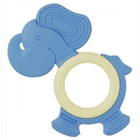 Natural eco teether - blue elephant