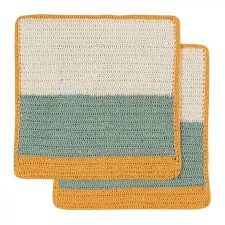 Crochet dish cloth - sasha honey (2)