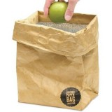 Brown paper Tyvek insulated lunch bag
