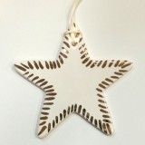 Kylie Johnson ceramic decoration - lustre star gold