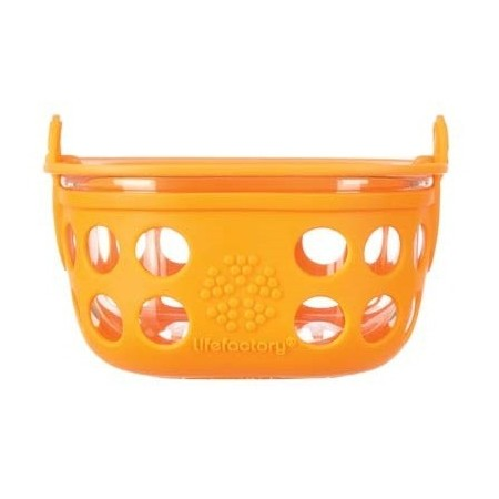 Lifefactory glass container 1 cup 240ml  - orange