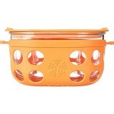 Lifefactory glass container 4 cup 950ml - orange