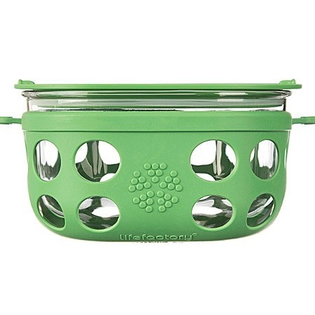 Lifefactory glass container 4 cup 950ml - grass green