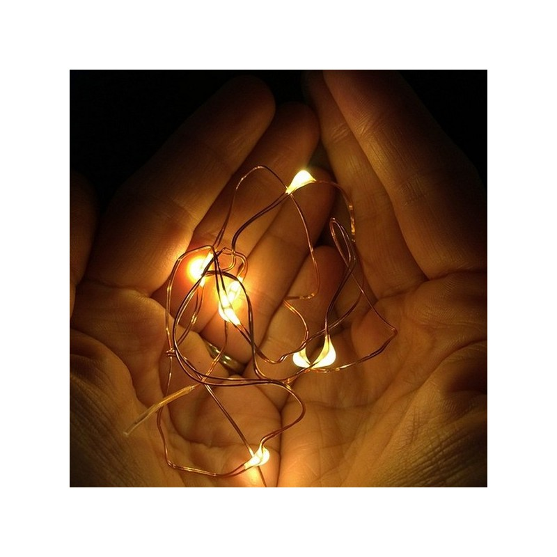 LED copper wire string lights 5m Battery operated Biome