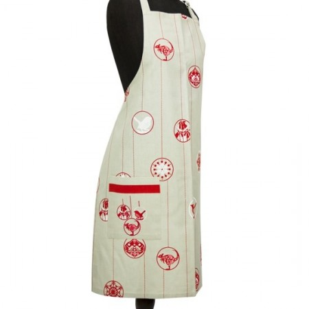 Christmas baubles organic cotton apron