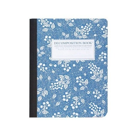 Decomposition lined journal - blueberry