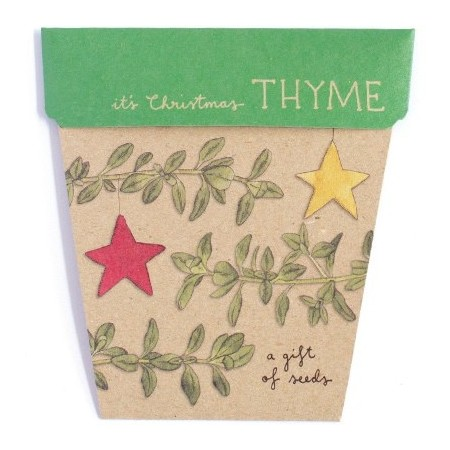 Sow 'n Sow gift card with seeds - christmas thyme