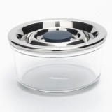 Onyx glass airtight container round 310ml
